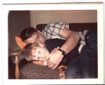 My Uncle Bud and his son, Loren West, snuggle on the couch in the 1960s.